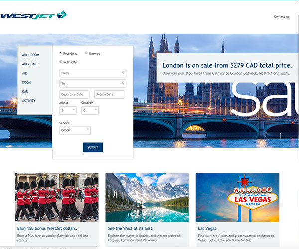 Westjet Travel